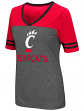 "Cincinnati Bearcats Women's NCAA ""McTwist"" Dual Blend V-neck T-Shirt"