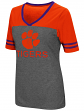 "Clemson Tigers Women's NCAA ""McTwist"" Dual Blend V-neck T-Shirt"