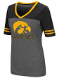 Iowa Hawkeyes Women's NCAA McTwist Dual Blend V-neck T-Shirt