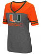 "Miami Hurricanes Women's NCAA ""McTwist"" Dual Blend V-neck T-Shirt"