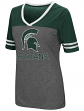 "Michigan State Spartans Women's NCAA ""McTwist"" Dual Blend V-neck T-Shirt"