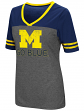 "Michigan Wolverines Women's NCAA ""McTwist"" Dual Blend V-neck T-Shirt"