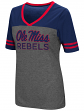 Mississippi Ole Miss Rebels Women's NCAA McTwist Dual Blend V-neck T-Shirt
