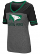 "North Dakota Fighting Hawks Women's NCAA ""McTwist"" Dual Blend V-neck T-Shirt"