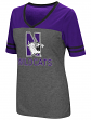 "Northwestern Wildcats Women's NCAA ""McTwist"" Dual Blend V-neck T-Shirt"