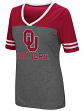 "Oklahoma Sooners Women's NCAA ""McTwist"" Dual Blend V-neck T-Shirt"