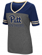 "Pittsburgh Panthers Women's NCAA ""McTwist"" Dual Blend V-neck T-Shirt"