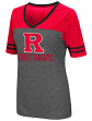 "Rutgers Scarlet Knights Women's NCAA ""McTwist"" Dual Blend V-neck T-Shirt"