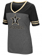 "Vanderbilt Commodores Women's NCAA ""McTwist"" Dual Blend V-neck T-Shirt"