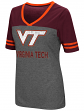 "Virginia Tech Hokies Women's NCAA ""McTwist"" Dual Blend V-neck T-Shirt"