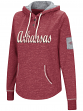 "Arkansas Razorbacks Women's NCAA ""Double Double"" Hooded Henley Sweatshirt"