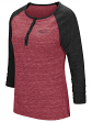 "Arkansas Razorbacks NCAA Women's ""Slopestyle"" 3/4 Sleeve Henley Shirt"