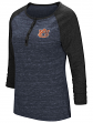 "Auburn Tigers NCAA Women's ""Slopestyle"" 3/4 Sleeve Henley Shirt"