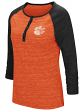 "Clemson Tigers NCAA Women's ""Slopestyle"" 3/4 Sleeve Henley Shirt"