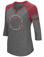 "Arkansas Razorbacks NCAA Women's ""Par"" 3/4 Sleeve Tri-Blend Notch Neck Shirt"