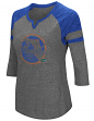 "Florida Gators NCAA Women's ""Par"" 3/4 Sleeve Tri-Blend Notch Neck Shirt"