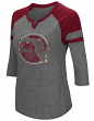 "Florida State Seminoles NCAA Women's ""Par"" 3/4 Sleeve Tri-Blend Notch Neck Shirt"