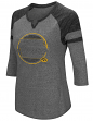 "Iowa Hawkeyes NCAA Women's ""Par"" 3/4 Sleeve Tri-Blend Notch Neck Shirt"