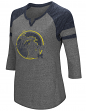 "Michigan Wolverines NCAA Women's ""Par"" 3/4 Sleeve Tri-Blend Notch Neck Shirt"