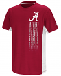 "Alabama Crimson Tide NCAA ""Power Set"" Youth Short Sleeve Performance T-Shirt"