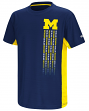 "Michigan Wolverines NCAA ""Power Set"" Youth Short Sleeve Performance T-Shirt"