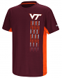 "Virginia Tech Hokies NCAA ""Power Set"" Youth Short Sleeve Performance T-Shirt"