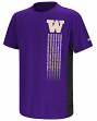 "Washington Huskies NCAA ""Power Set"" Youth Short Sleeve Performance T-Shirt"