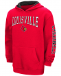 "Louisville Cardinals NCAA ""End Zone"" Pullover Hooded Youth Sweatshirt - Red"