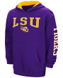 "LSU Tigers NCAA ""End Zone"" Pullover Hooded Youth Sweatshirt - Purple"