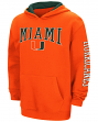 "Miami Hurricanes NCAA ""End Zone"" Pullover Hooded Youth Sweatshirt - Orange"