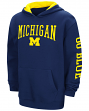"Michigan Wolverines NCAA ""End Zone"" Pullover Hooded Youth Sweatshirt - Navy"