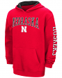 "Nebraska Cornhuskers NCAA ""End Zone"" Pullover Hooded Youth Sweatshirt - Red"