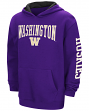 "Washington Huskies NCAA ""End Zone"" Pullover Hooded Youth Sweatshirt - Purple"
