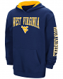 "West Virginia Mountaineers NCAA ""End Zone"" Pullover Hooded Youth Navy Sweatshirt"