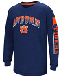 "Auburn Tigers NCAA ""Grandstand"" Long Sleeve Dual Blend Youth T-Shirt"
