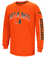 """Miami Hurricanes NCAA """"Grandstand"""" Long Sleeve Dual Blend Youth T-Shirt"""