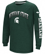 "Michigan State Spartans NCAA ""Grandstand"" Long Sleeve Dual Blend Youth T-Shirt"