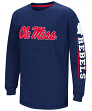 "Mississippi Ole Miss Rebels ""Grandstand"" Long Sleeve Dual Blend Youth T-Shirt"