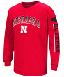 "Nebraska Cornhuskers NCAA ""Grandstand"" Long Sleeve Dual Blend Youth T-Shirt"