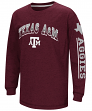 "Texas A&M Aggies NCAA ""Grandstand"" Long Sleeve Dual Blend Youth T-Shirt"