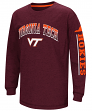 "Virginia Tech Hokies NCAA ""Grandstand"" Long Sleeve Dual Blend Youth T-Shirt"