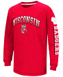 "Wisconsin Badgers NCAA ""Grandstand"" Long Sleeve Dual Blend Youth T-Shirt"