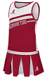 "Alabama Crimson Tide NCAA Toddler ""Curling"" 2 Piece Set Cheerleader Outfit"
