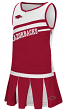 "Arkansas Razorbacks NCAA Toddler ""Curling"" 2 Piece Set Cheerleader Outfit"