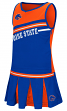 "Boise State Broncos NCAA Toddler ""Curling"" 2 Piece Set Cheerleader Outfit"
