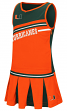"Miami Hurricanes NCAA Toddler ""Curling"" 2 Piece Set Cheerleader Outfit"