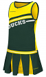 "Oregon Ducks NCAA Toddler ""Curling"" 2 Piece Set Cheerleader Outfit"