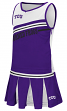 """TCU Horned Frogs NCAA Toddler """"Curling"""" 2 Piece Set Cheerleader Outfit"""