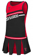 """Texas Tech Red Raiders NCAA Toddler """"Curling"""" 2 Piece Set Cheerleader Outfit"""