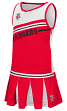 """Wisconsin Badgers NCAA Toddler """"Curling"""" 2 Piece Set Cheerleader Outfit"""
